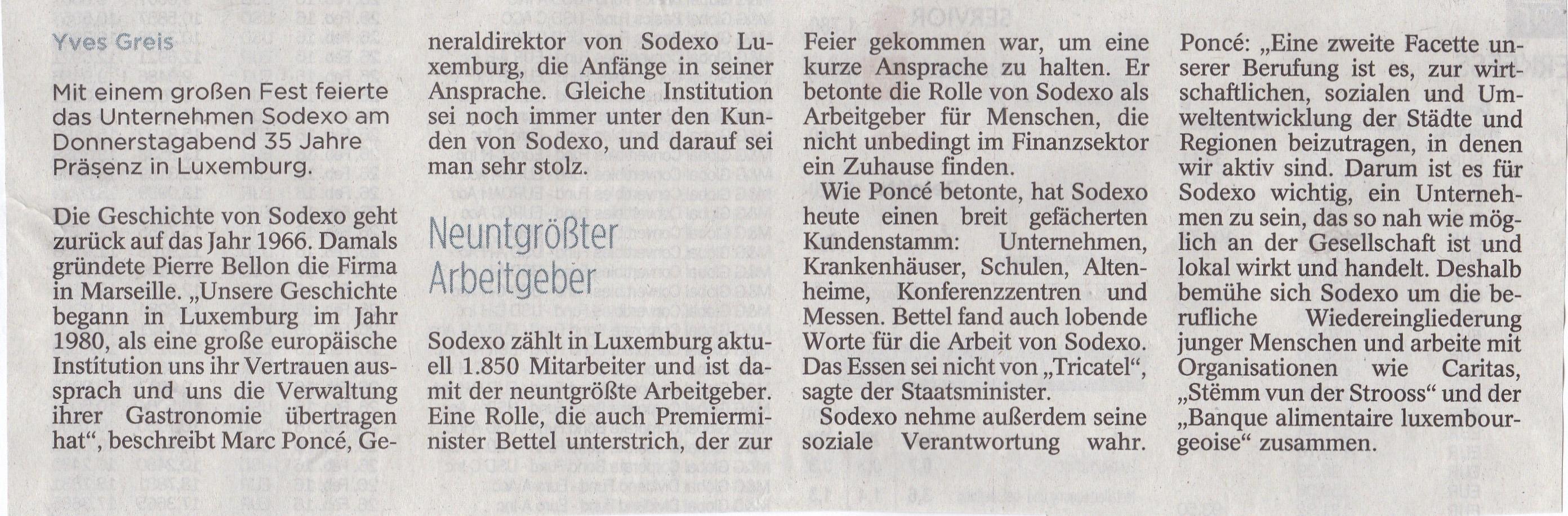 35 Jahre Sodexo in Luxemburg 2