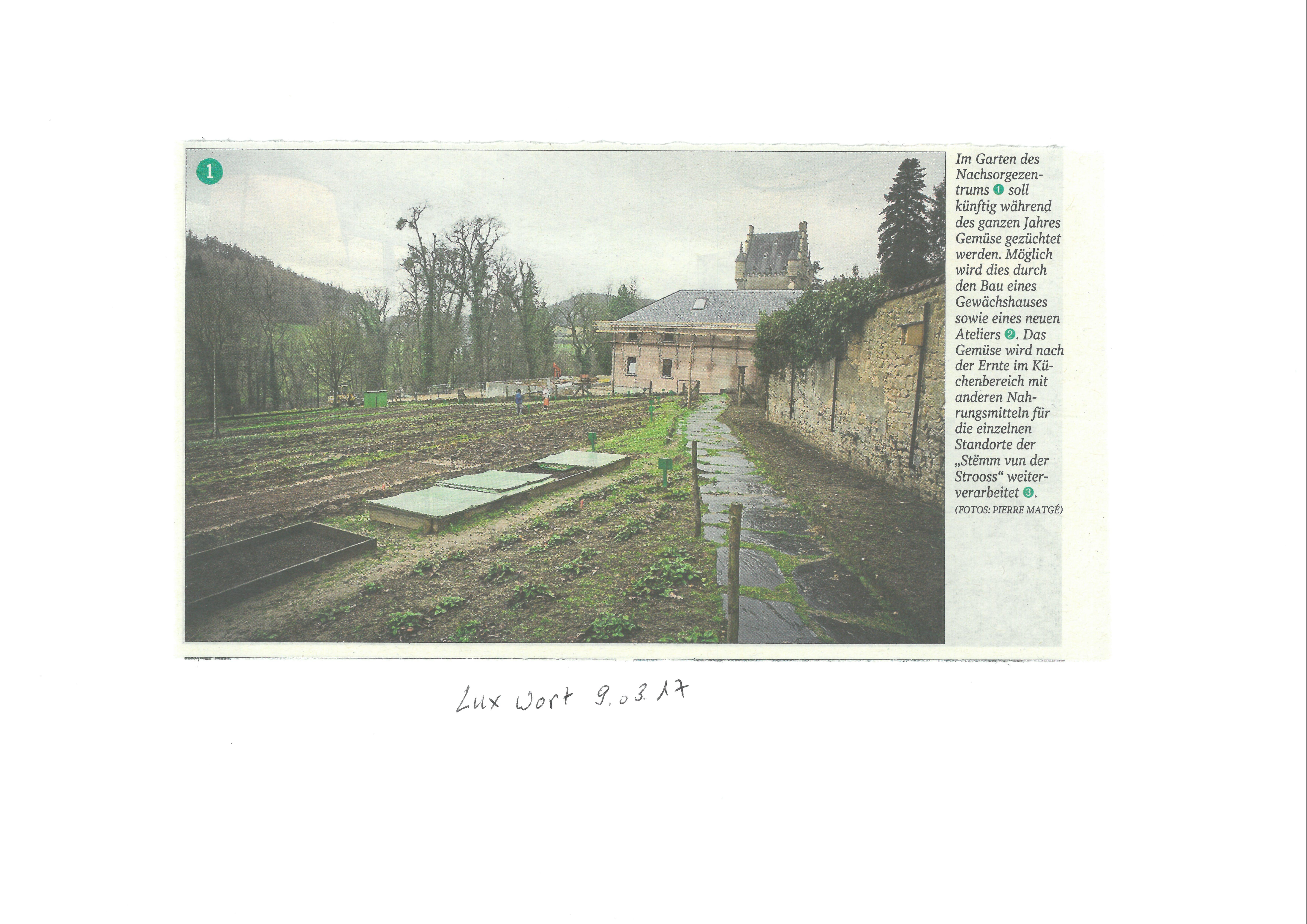 Le Luxemburger Wort vient de publier dans son édition du 9 mars l'article intitulé Das Leben nach dem Entzug