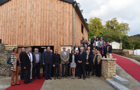 Inauguration of a greenhouse and a hangar by the Stëmm vun der Strooss and the Œuvre nationale de secours Grande Duchesse Charlotte