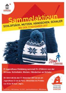 Maison des Jeunes de Dudelange collecte 700 kg de vêtements pour la Stëmm vun der Strooss