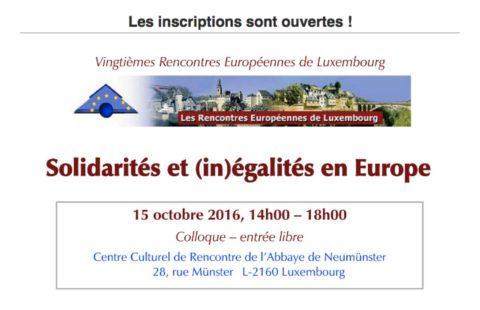 Free conference on solidarities and (in)equalities in Europe