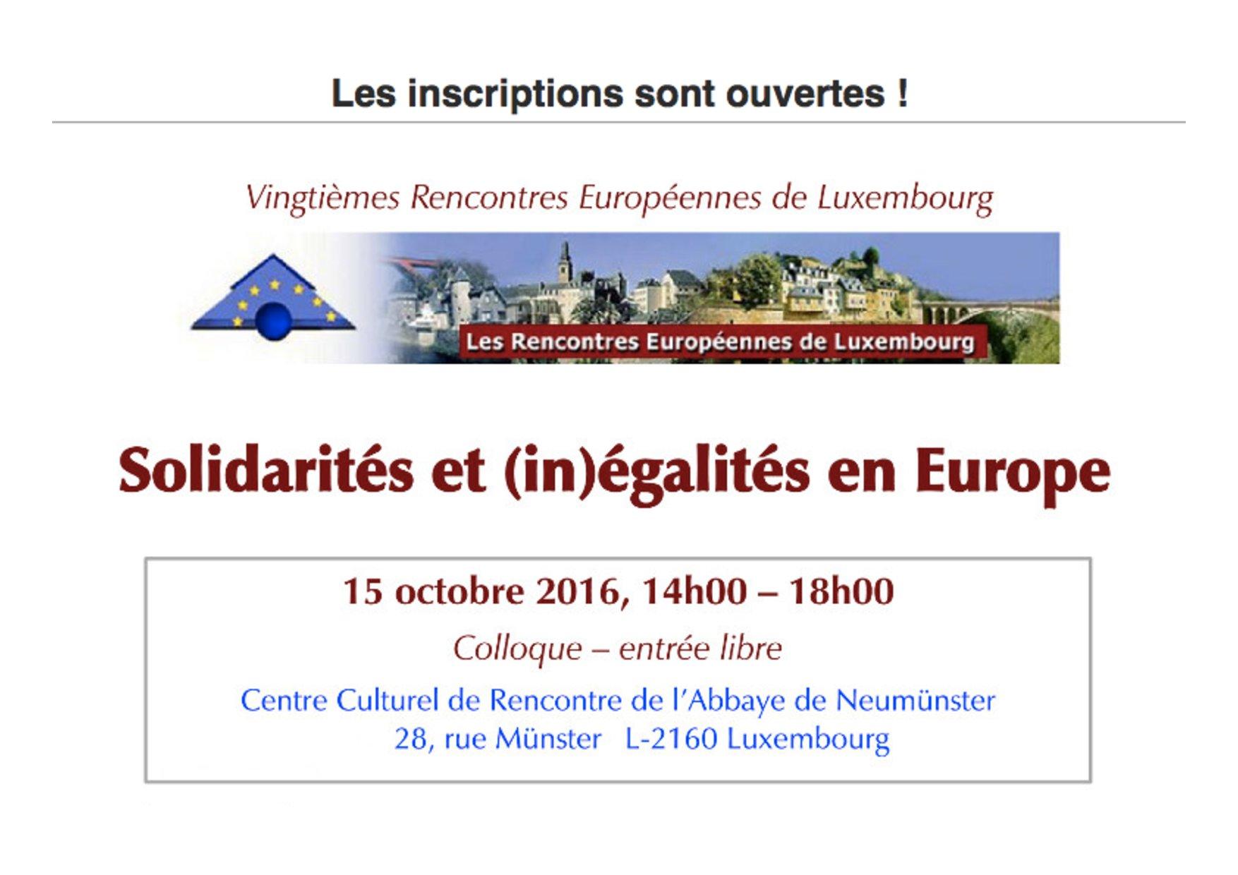 Solidarités et (in)égalités en Europe