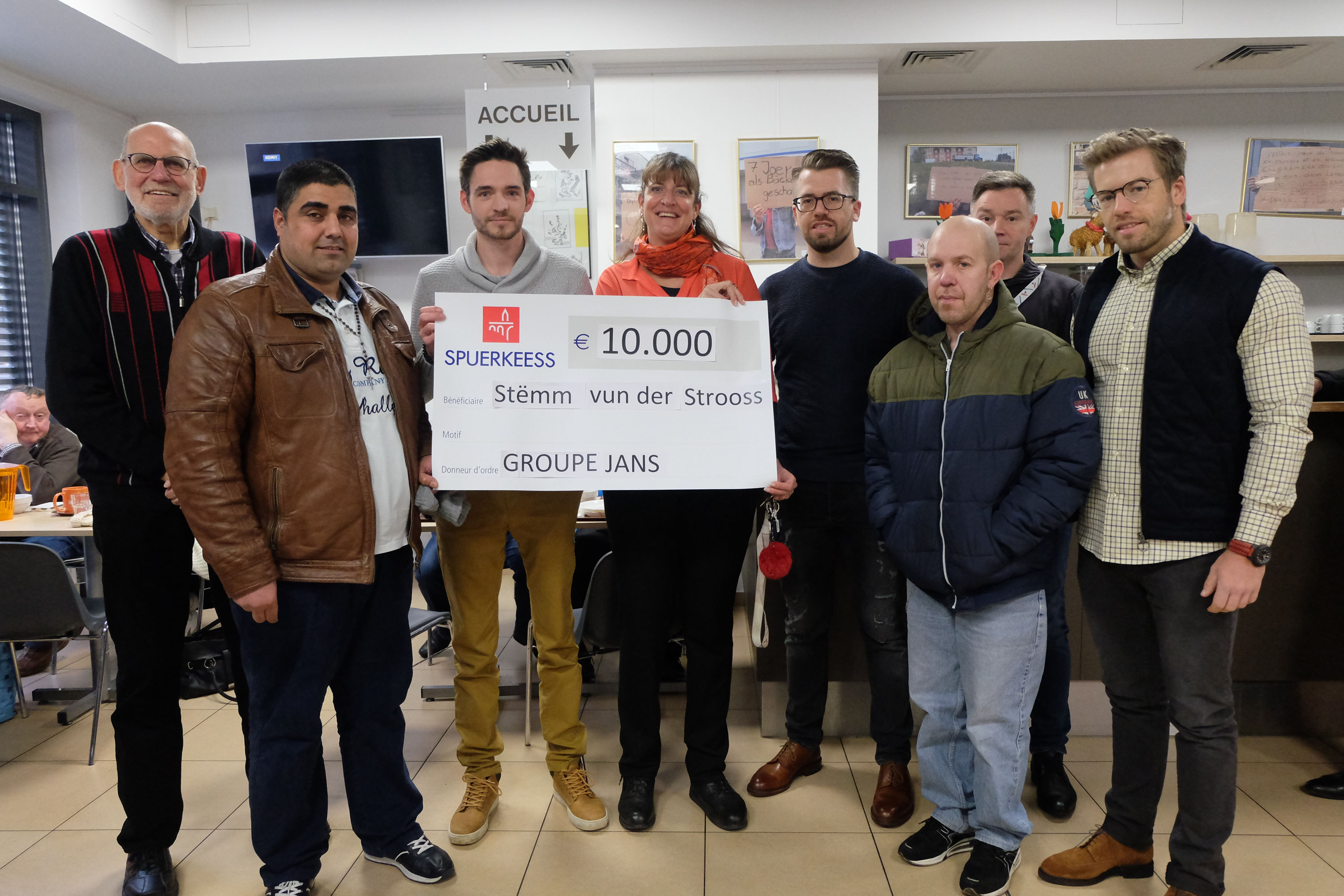 The Jans group supports Stëmm with €10,000.