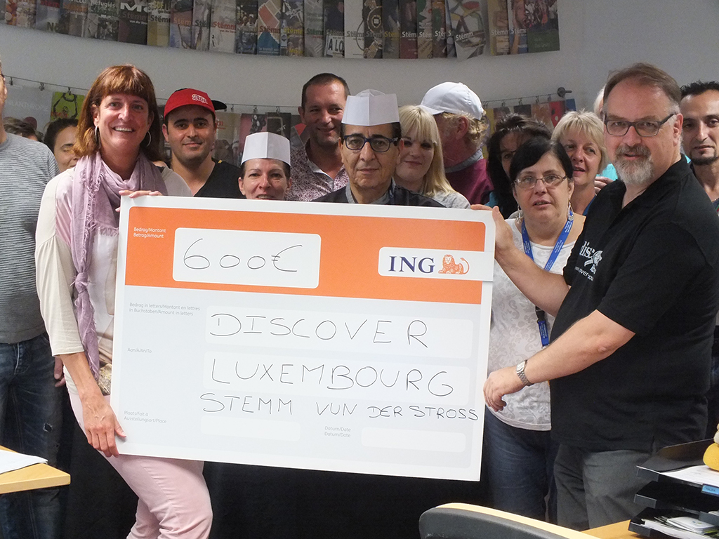 DISCOVER Luxembourg donates €600
