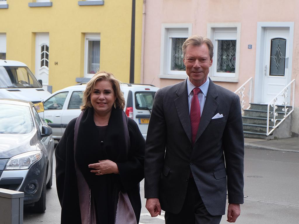 Le couple grand ducal auprès des plus démunis