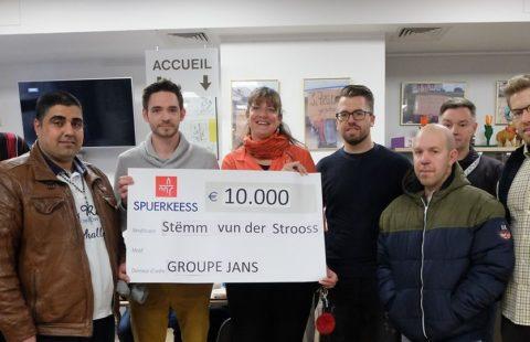 Le groupe Jans soutient la Stëmm avec 10 000 €.