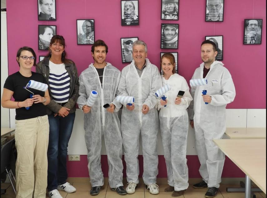 Beautiful initiative of five employees of Intelsat, in favour of the Stëmm vun der Strooss