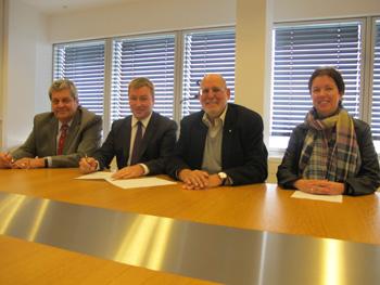 Signature officielle de la convention relative à la gestion locative sociale de l'asbl «Stëmm vun der Strooss»