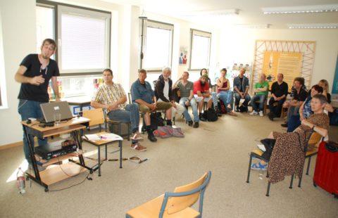 Team der Wärmestube zur Fortbildung in Luxemburg