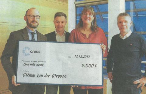 Cérémonie de remise chez Creos Luxembourg S.A.