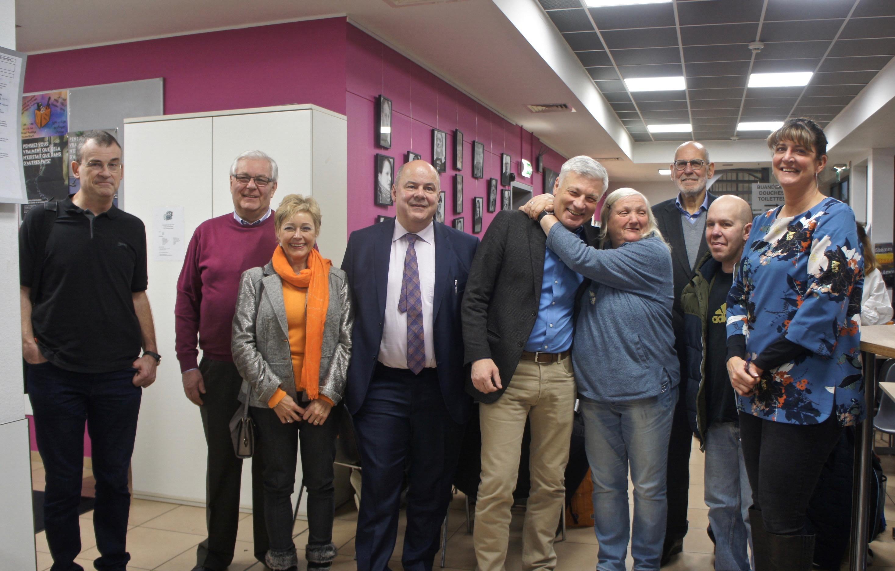 The members of the Christian Social Party visit Stëmm vun der Strooss.