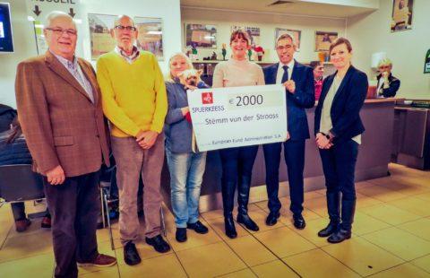 2 000 € de la part de European Fund Administration pour la Stëmm vun der Strooss