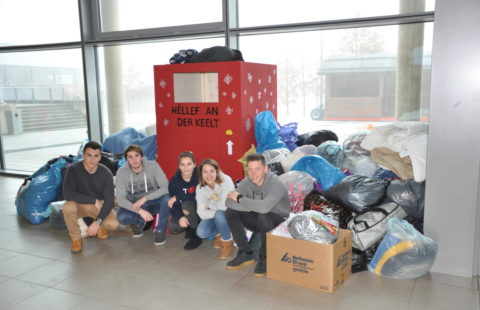 700 kilos of clothes to the profit of the Stëmm vun der Strooss