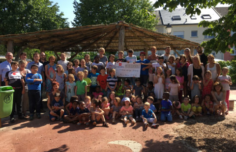 "Stëmm vun der Strooss benefits from the big hearts of the 50 children at the ""maison relais d'Itzig"""