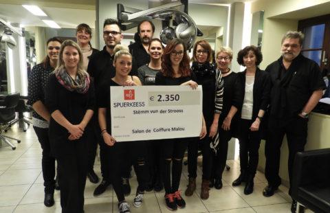Haidresser Malou pays €1 to Stëmm vun der Strooss for each client.