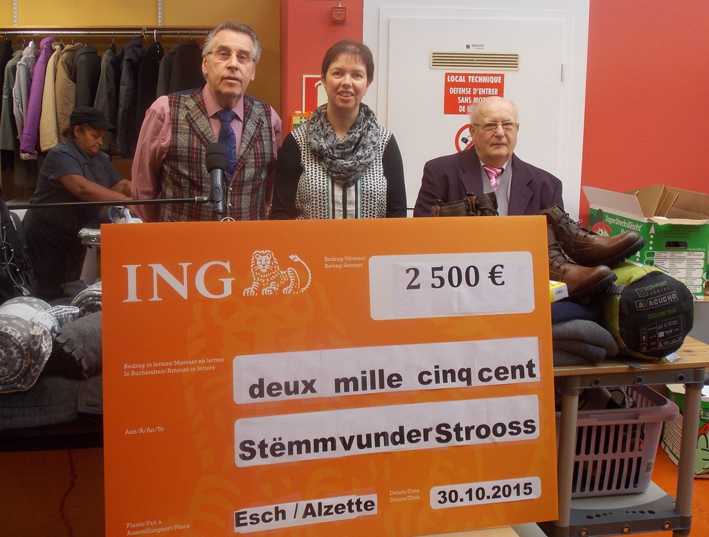 2.500 € für Stëmm vun der «Strooss Esch-Uelzecht»