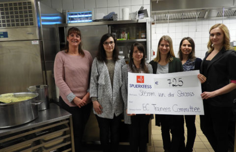 The European Commission's Trainees' Committee raises 922 euros for the cause of helping the homeless in Luxembourg