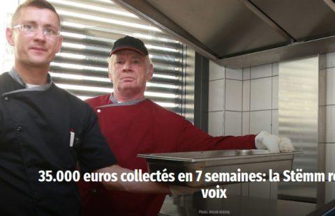 35.000 euros collectés en 7 semaines: la Stëmm reste sans voix