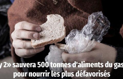 «Caddy 2» sauvera 500 tonnes d'aliments du gaspillage pour nourrir les plus défavorisés