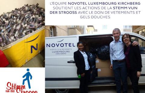 Novotel Luxembourg Kirchberg soutient les actions de la Stemm vum der Strooss