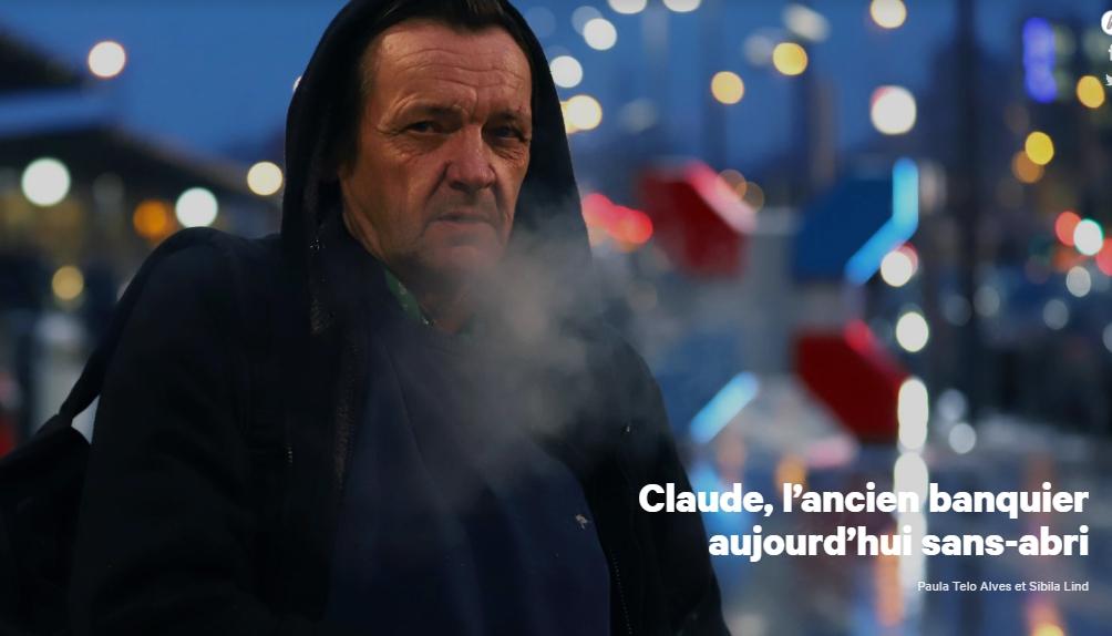 Claude, l'ancien banquier aujourd'hui sans-abri