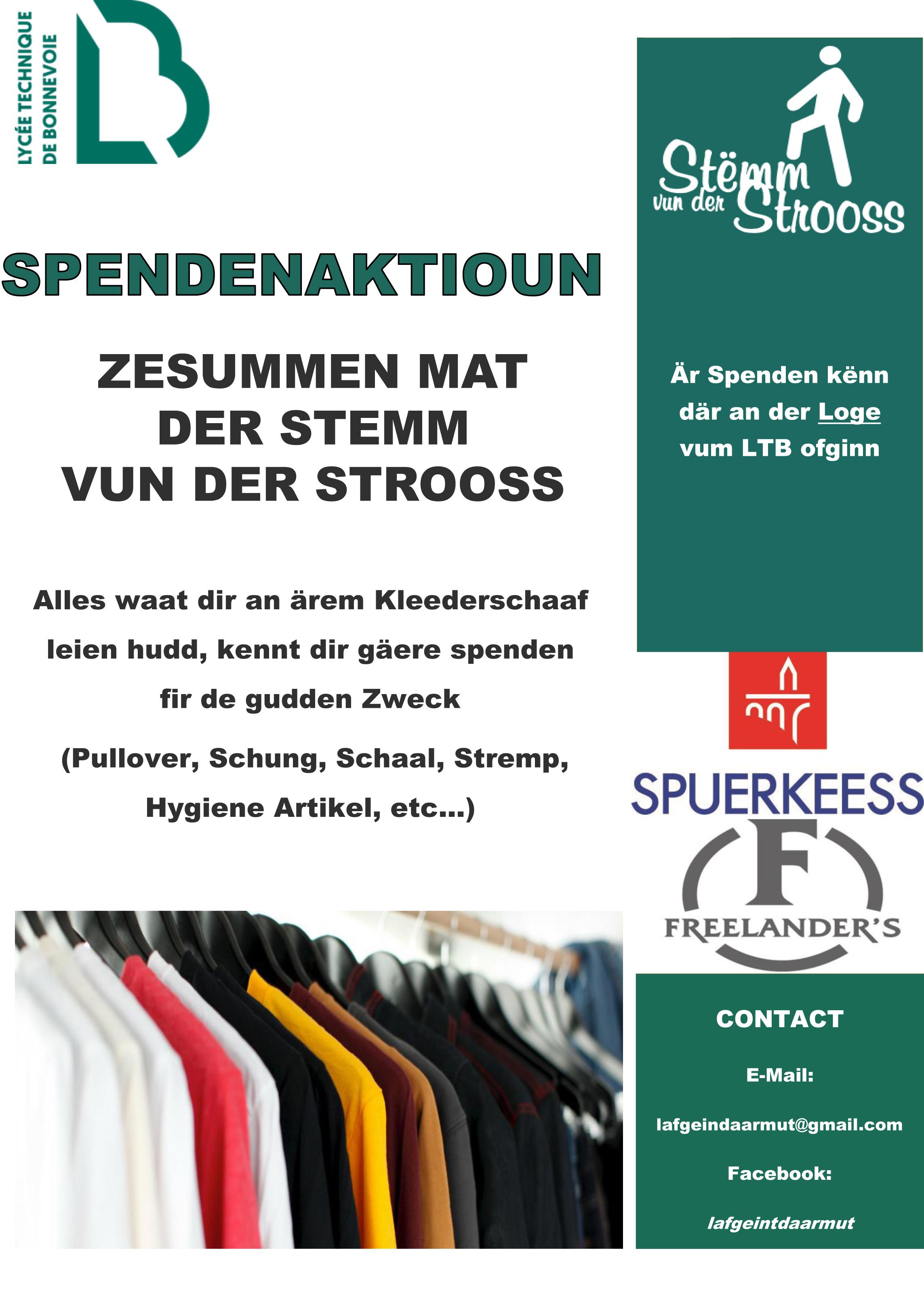 The high school LTB supports the Stëmm vun der Strooss