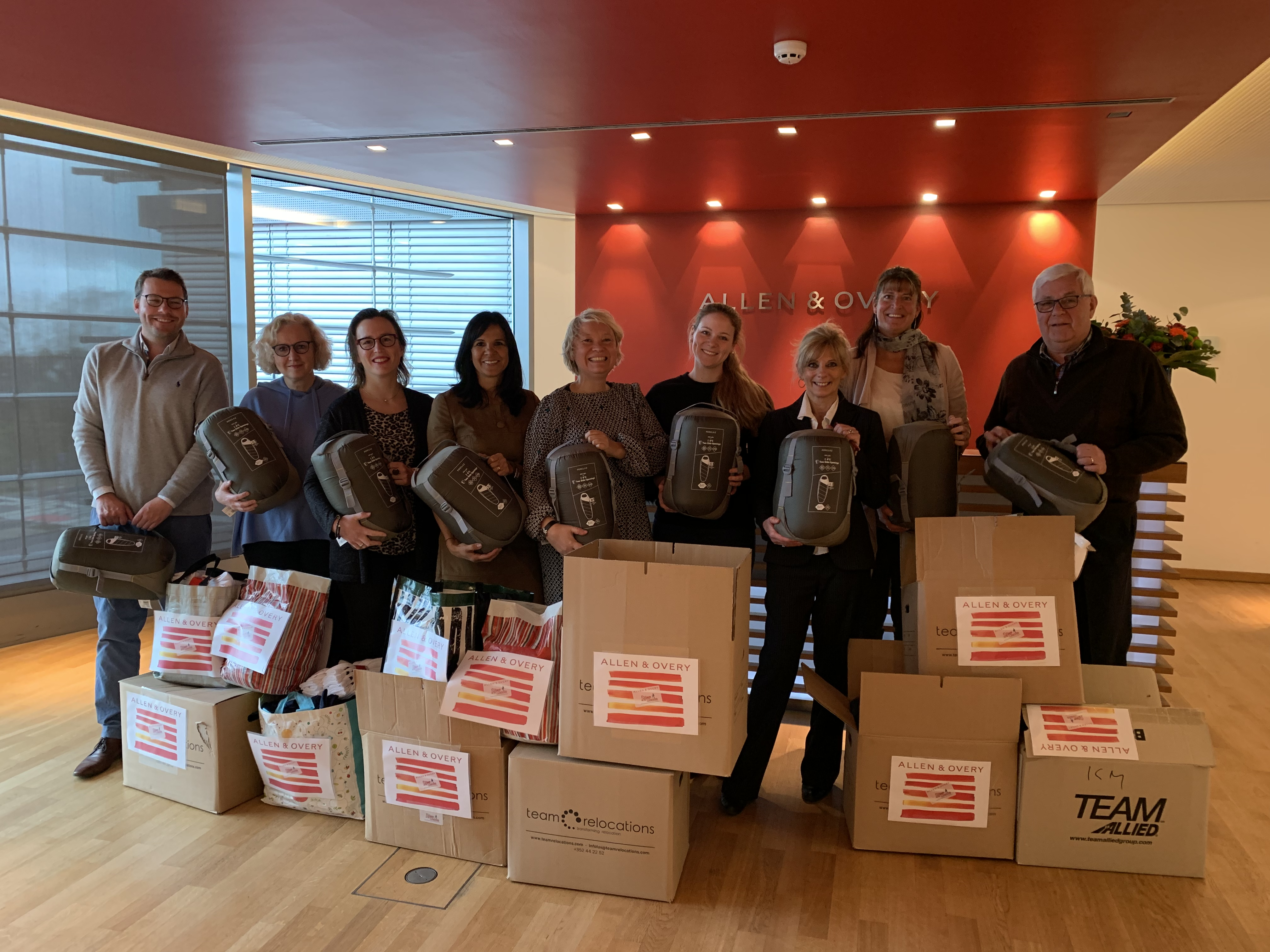 Allen & Overy donates sleeping bags and underwear
