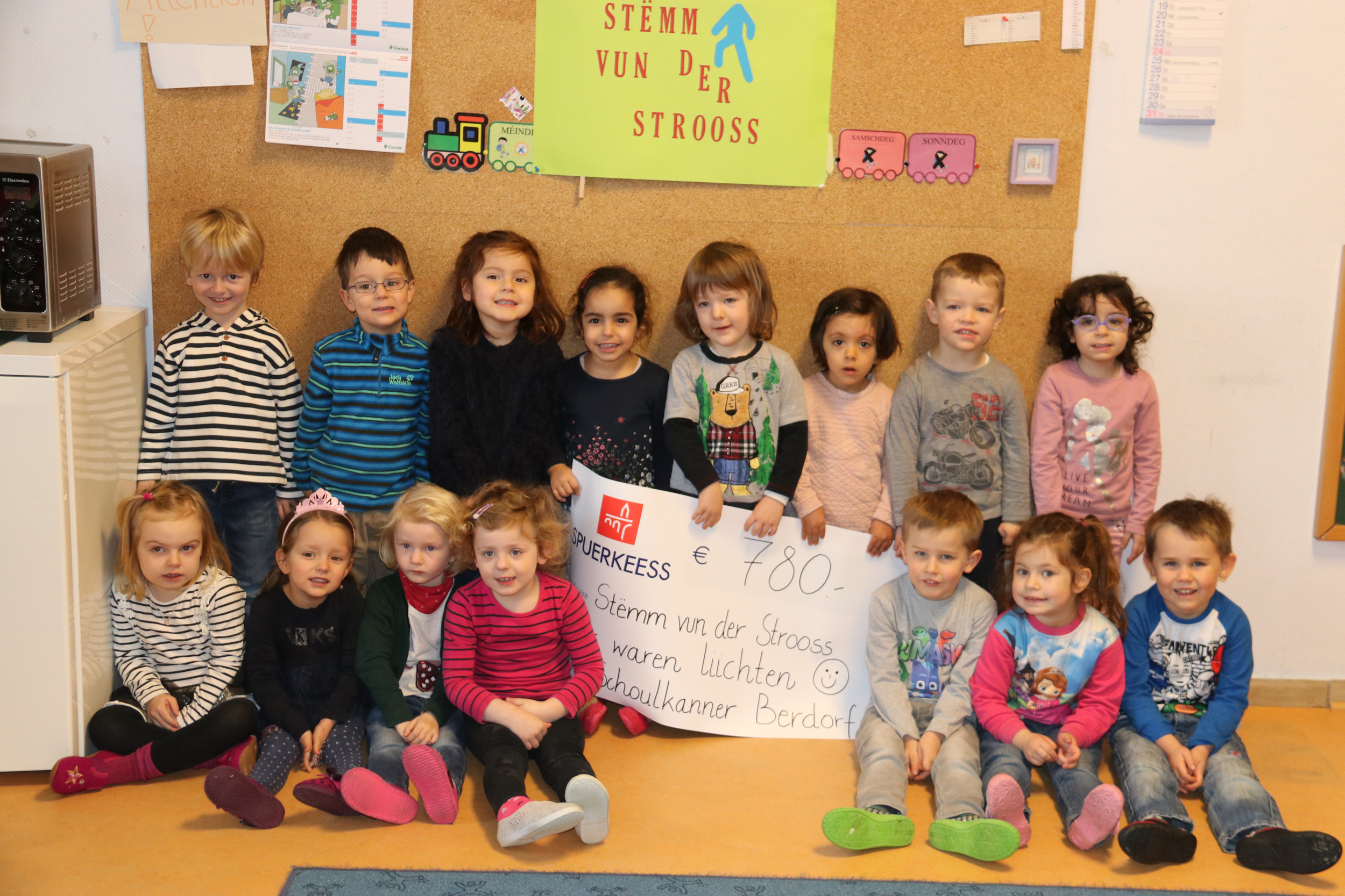 Big donation of the children from the municipality Berdorf