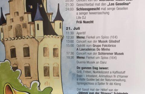 Venez nombreux au Schendelsser Schlassfest