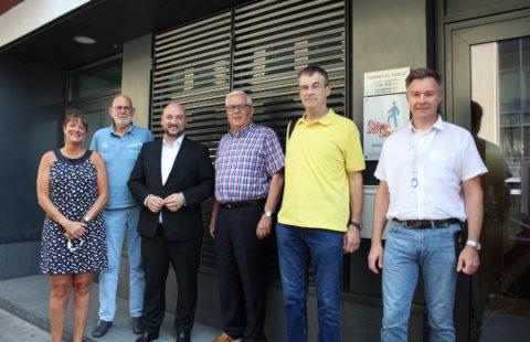 Visite du Vice-Premier ministre, ministre de la Santé, Étienne Schneider à la Stëmm vun der Strooss