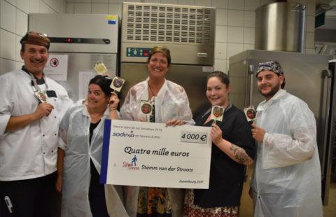 Sodexo  donates a cold-storage chamber to Stëmm vun der Strooss