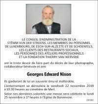 Au revoir Georges Edward Nixon