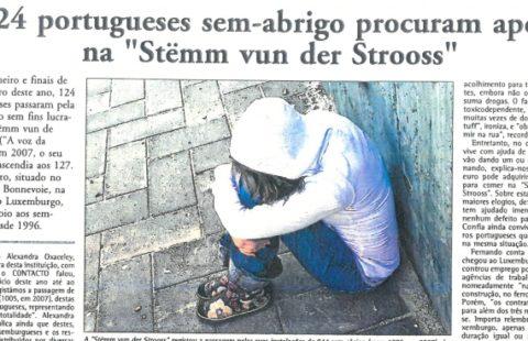 124 portugueses sem-abrigo procuram apoio na «Stëmm vun der Strooss»