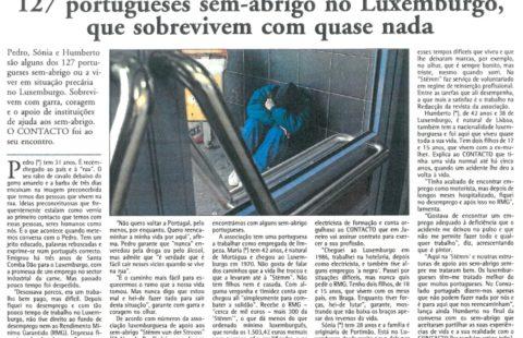 127 portugueses sem-abrigo no Luxemburgo, que sobrevivem com quase nada