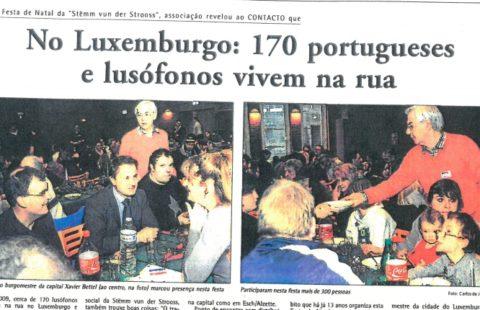 No Luxemburgo: 170 portugueses e lusófonos vivem na rua