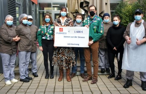 Guides and Scouts of Bertrange mobilise for the good cause
