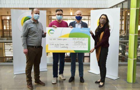POST Luxembourg collects gift vouchers and supports Stëmm vun der Strooss