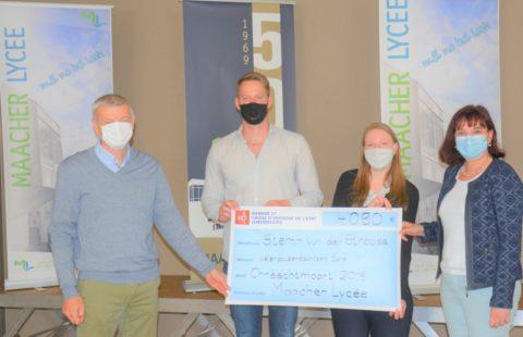 The charity association (ALYGRE) of the Maacher Lycée supports the Stëmm vun der Strooss