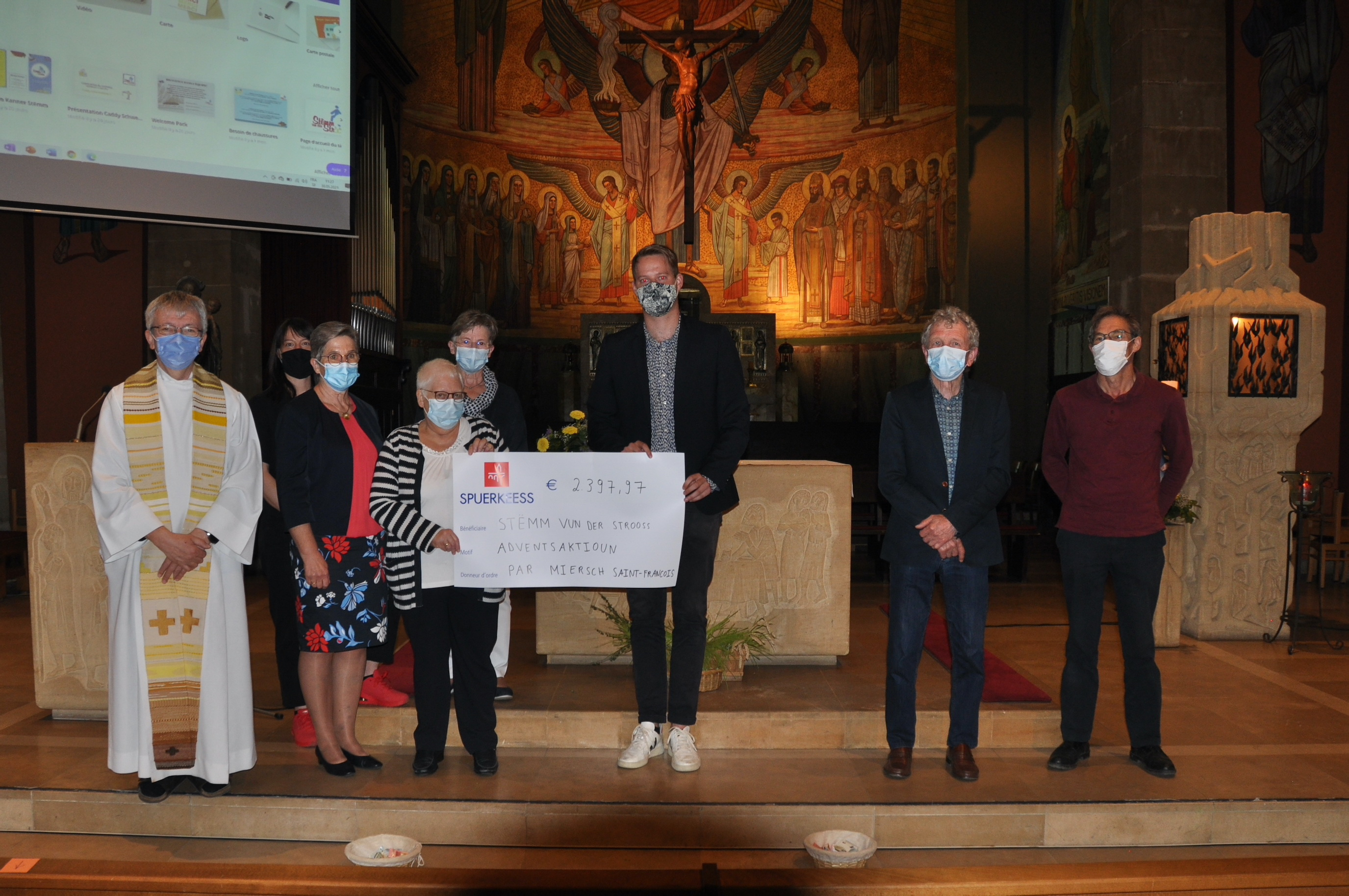The Christmas action of the parish of Mersch allows the Stëmm vun der Strooss to fight against food waste