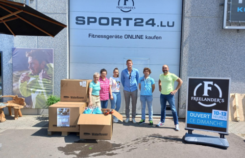 Donate instead of throwing away: Freelander's collects 250 pairs of shoes for the Stëmm