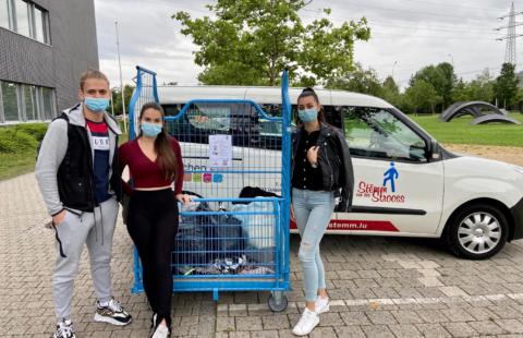 Stëmm vun der Strooss et Lycée Mathias Adam – Une bonne action pour clôturer l'année scolaire